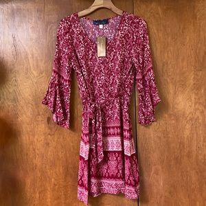 NWT Red Francesca's Bell Sleeve Dress
